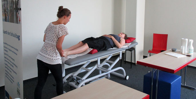Massage-Aktion bei ANGELL